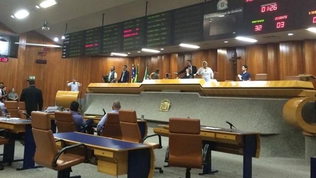 Última sessão no plenário do período de autoconvocação da Câmara de Goiânia \ Foto: Larissa Quixabeira
