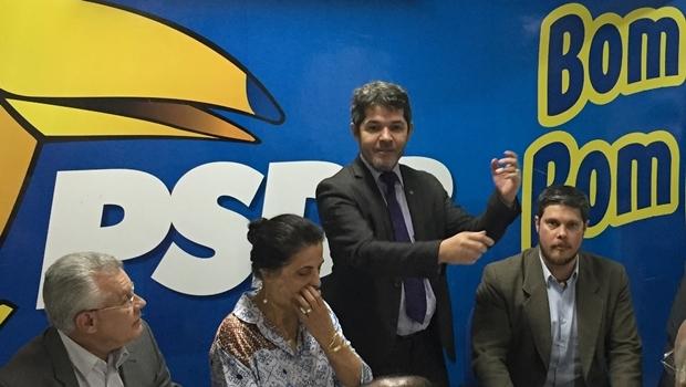 Delegado Waldir Soares durante encontro do PSDB na segunda-feira | Foto: Alexandre Parrode