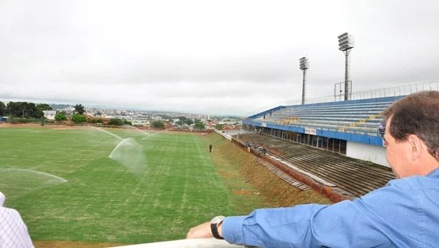 Estádio Jonas Duarte: obras devem aumentar a capacidade do local