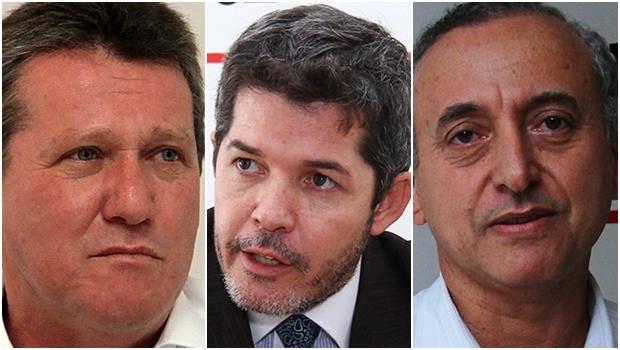 Giuseppe Vecci, Waldir Soares e Anselmo Pereira: pré-candidatos do PSDB vão disputar prévias em 21 de fevereiro   Fotos: Fernando Leite/Jornal Opção