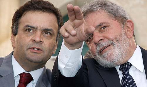 Aécio Neves com Lula