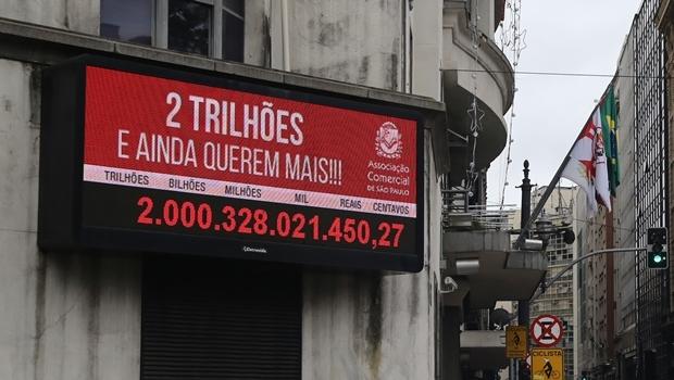 O já popular impostômetro instalado na capital paulista:o valor da taxação é alto, mas pior é a forma de sua distribuição | Foto: André Tambucci/ Fotos Públicas