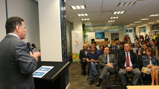 Marconi apresenta as potencialidades de Goiás a empresários neozelandeses, na Agência Nacional de Turismo da Nova Zelândia | Foto: Divulgação