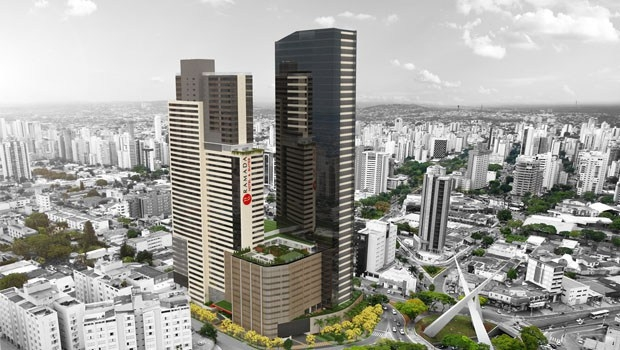 Maquete do Nexus: torres gigante vai causar enorme impacto na vizinhança. MPGO quer nova avaliação | Foto: Reprodução