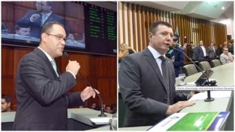 Deputados Virmondes Cruvinel e José Nelto, durante pronunciamento | Foto: Foto Y. Maeda
