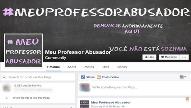 Página no Facebook publica relatos de assédio sexual praticado por professores