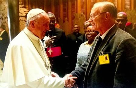 Antônio Moser e o papa francisco moser