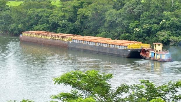 Início da retomada do transporte hidroviário na Paranaíba-Tietê-Paraná | Foto: Eduardo Ferreira
