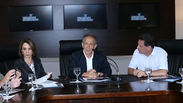Secretário-geral da CBF veio a Goiânia nesta sexta-feira (11/3) para reunião com o governador Marconi Perillo (PSDB) | Foto: Henrique Luiz