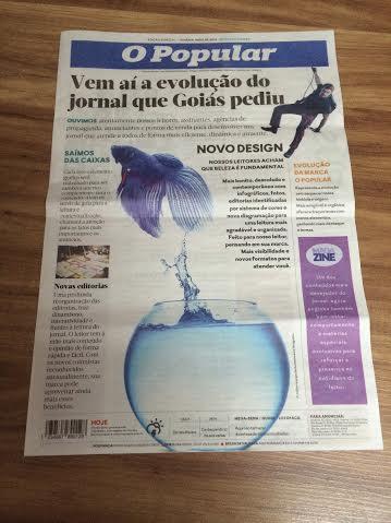 O Popular divulga que será publicado no formato berliner mas continua um jornal sem opinião própria