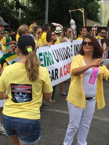 Protesto contra Dilma o pt morreu