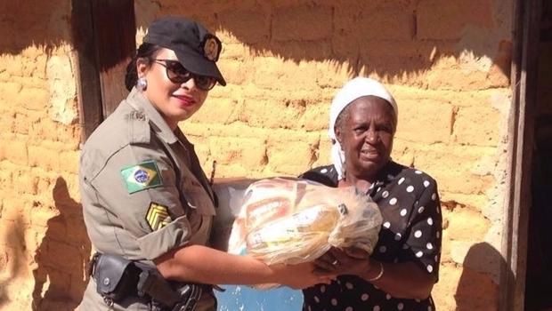 Agentes da PM realizam trabalho social nas comunidades Kalunga em Goias | Foto: reprodução/PM5