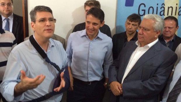 Thiago Peixoto e Vilmar Rocha reafirmam que Francisco Júnior vai disputar a Prefeitura de Goiânia