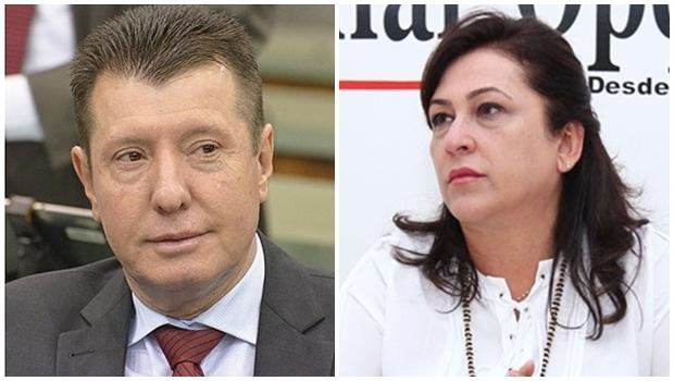 Deputado estadual José Nelto e senadora Kátia Abreu, ambos do PMDB