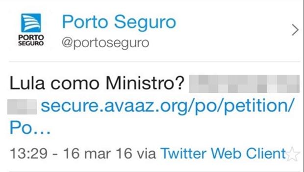 Empresa de seguros xinga no Twitter após nomeação de Lula e causa polêmica