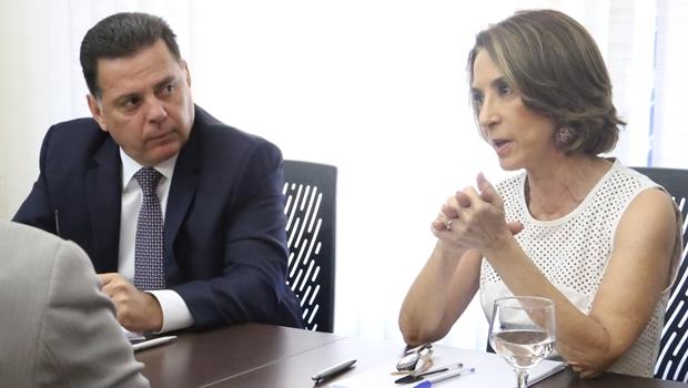 Governador Marconi Perillo e a secretária Raquel Teixeira na Seduce | Foto: Solimar de Oliveira