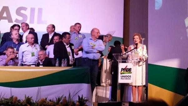 Ex-PT, Marta Suplicy discursa durante o evento | Foto: PMDB