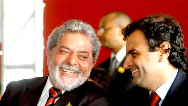 Lula da Silva, ex-presidente da República, e Aécio Neves, senador por Minas: a situação do segundo  é menos complicada, mas tende a se complicar; a situação do primeiro é extremamente complicada