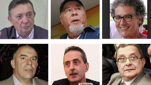 Marqueteiros Chico Santa Rita, Duda Mendonça, Dimas Thomas, Rui Rodrigues, Paulo de Tarso e João Santana