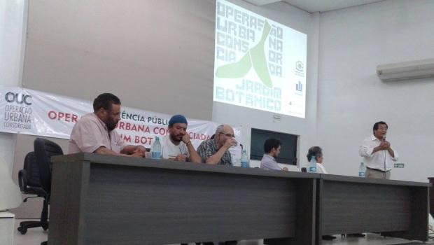 Primeira audiência pública para discutir o projeto da Operação Urbana Consorciada (OUC) Jardim Botânico aconteceu no auditório da Unifan, em Aparecida de Goiânia | Foto: Augusto Diniz