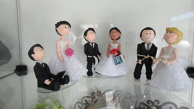 Ponto do Artesanato, de Késsia Sousa, dedica-se a casamentos. São diversos enfeites diferenciados da área, afinal, inovar é fundamental