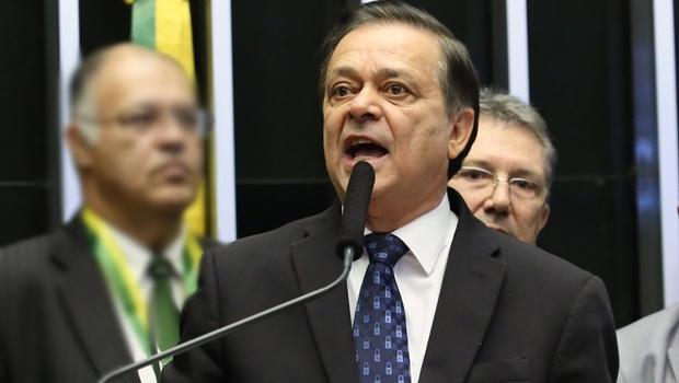 Deputado Jovair Arantes fala durante a sessão | Foto: Antonio Augusto/ Câmara dos Deputados
