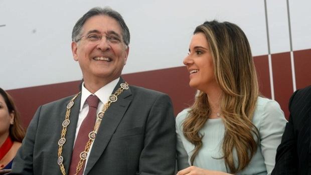Governador de Minas Gerais e a esposa | Foto: Veronica Manevy/ Imprensa MG