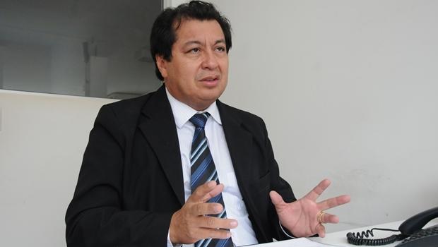Secretário Juruna durante entrevista ao Jornal Opção   Foto: Fernando Leite / Jornal Opção