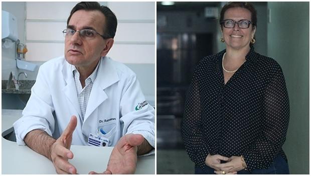 Boaventura Braz e Christiane Kobal: referências goianas na infectologia, ambos trabalham no Hospital de Doenças Tropicais | Foto: Renan Accioly/Jornal Opção