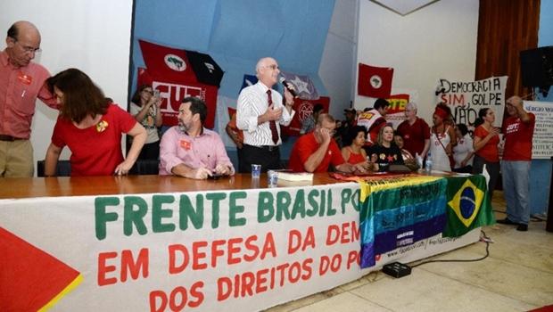 No Auditório da Faculdade de Direito, reitor da UFG abriu plenária, que antecedeu ato contra o impeachment da presidente | Foto: Divulgação/UFG