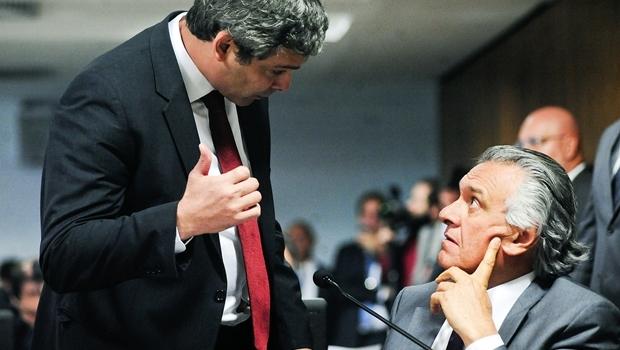 Discussão com acusação de mentiroso entre os senadores Lindbergh Farias (PT-RJ) e Ronaldo Caiado (DEM-GO) quase acabou em briga | Foto: Pedro França/Agência Senado
