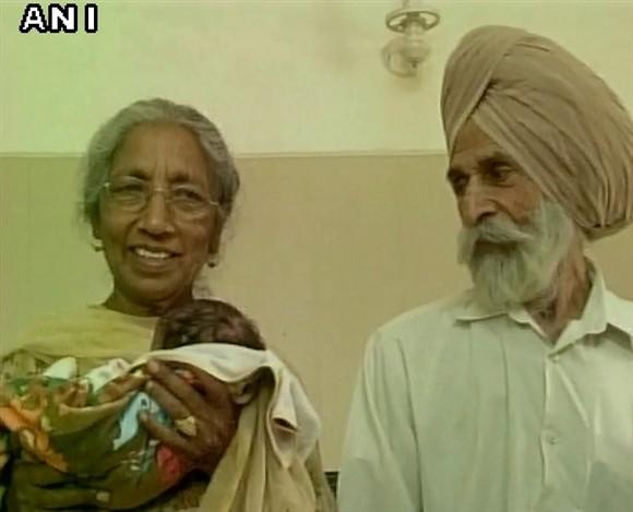 Mulher indiana de mais de 70 anos tem um filho e diz que realizou um sonho