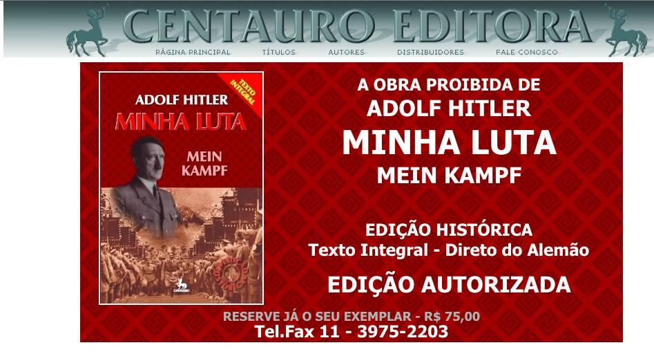 """""""Minha Luta"""", de Hitler, é lançado discretamente no Brasil (e chega com um novo mistério)"""