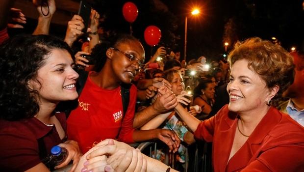 Sem conseguir conter as lágrimas, Dilma voltou a questionar impeachment, que seguiu classificando como golpe | Foto: Roberto Stuckert Filho/PR