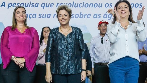 Cláudia Lelis, Dilma Rousseff e Kátia Abreu | Foto: Roberto Stuckert Filho