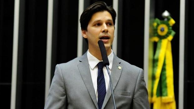 Deputado federal Daniel Vilela na tribuna   Foto: repordução