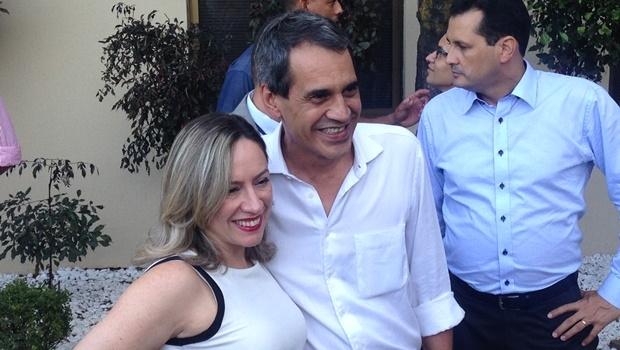 Para Carlos Soares, ter uma mulher preocupada com a segurança pública na Prefeitura de Goiânia é muito importante | Foto: Bruna Aidar/ Jornal Opção