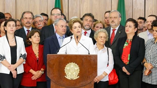 Presidente Dilma Rousseff durante declaração à imprensa | Foto: Roberto Stuckert Filho/PR