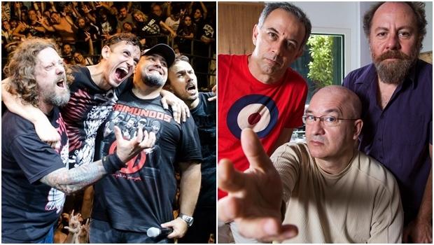 Raimundos e Paralamas do Sucesso: em Goiânia no mesmo festival | Fotos: reprodução / Facebook