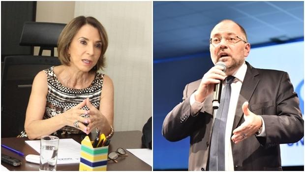 Secretária Raquel Teixeira   e Ricardo Henriques | Fotos: Leoiran / reprodução