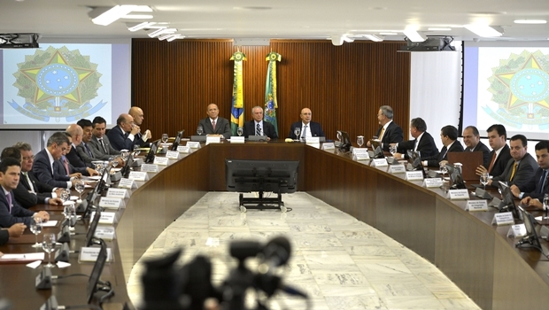 Reunião ministerial de Temer | Foto: José Cruz / Abr