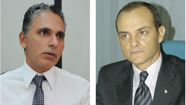 Promotor Juliano de Barros e juiz Fabiano de Aragão: personagens chave de suas instituições no caso Nexus | Fotos: Renan Accioly