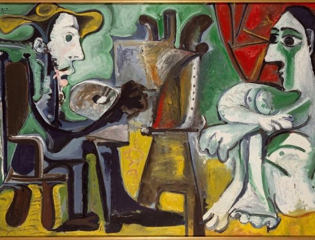 Picasso oleo-sobre-tela-o-pintor-e-modelo-1963-de-pablo-ruiz-picasso-1881-1973-a-obra-tem-130-cm-x-195-cm-e-pertence-a-colecao-do-museu-nacional-centro-de-arte-rainha-sofia-em-madri-a-part