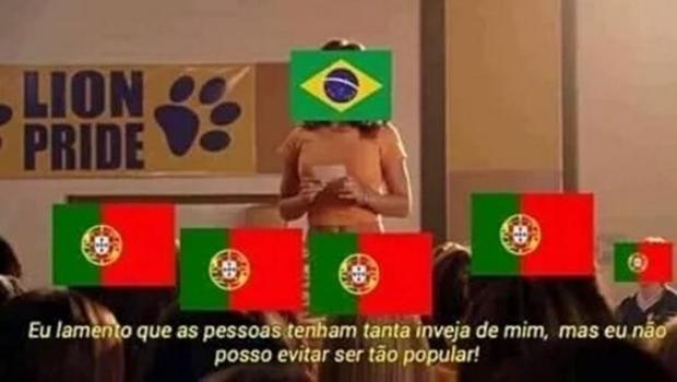 """""""Guerra dos memes"""" acabou produzindo mais memes na rede social. Enquanto brasileiros se muniam de piadas, portugueses"""