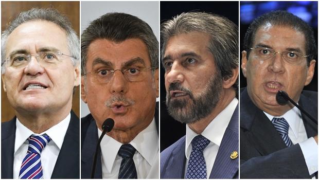 Supremo determina abertura de inquérito contra Renan, Jucá, Raupp e Barbalho, do PMDB