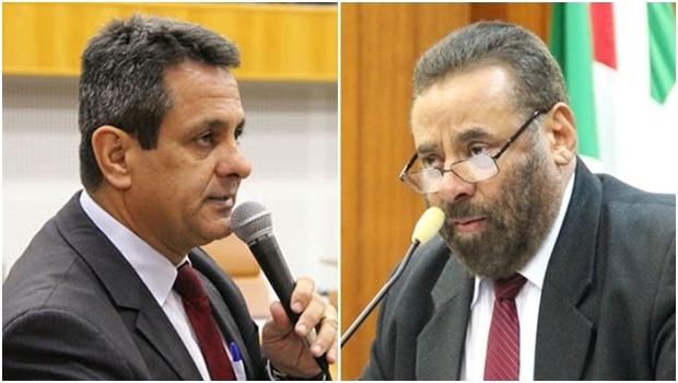 Paulo Magalhães e Denício Trindade trocaram empurrões durante confusão | Fotos: Câmara Municipal