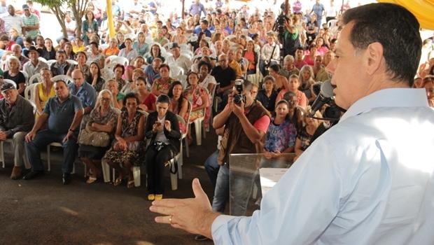 Governador Marconi Perillo inaugura reforma de aeródromo e obras da Saneago em Morrinhos | Foto: Divulgação / Gabiente Imprensa