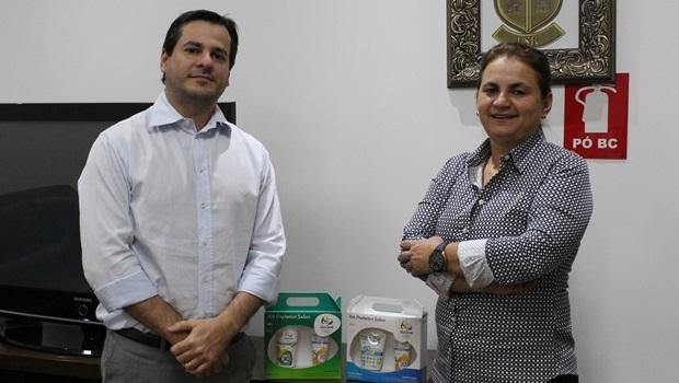 Solange Neves e Leonardo Rezende, sócios e diretores da Nutriex, marca goiana escolhida para produzir a linha de protetores solares das Olimpíadas 2016 | Foto: Bruna Aidar/ Jornal Opção