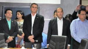 Osires Damaso, Bolsonaro, Pastor Everaldo e João Campos: com os evangélicos | Foto: Divulgação