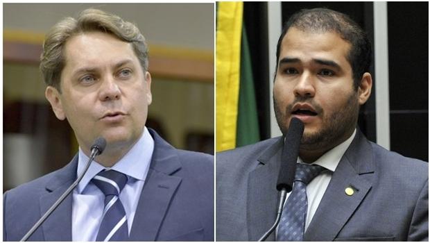 Bruno Peixoto e Lucas Vergílio: PMDB e SD separados   Fotos: Y. Maeda / Luis Macedo